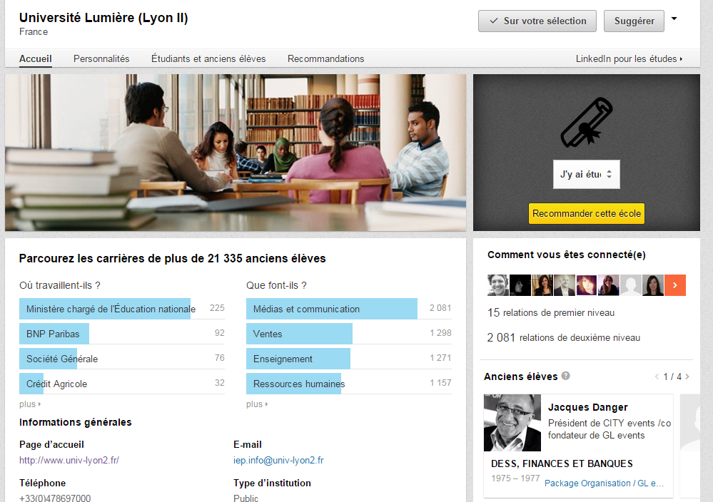Université Lumière  Lyon II    LinkedIn